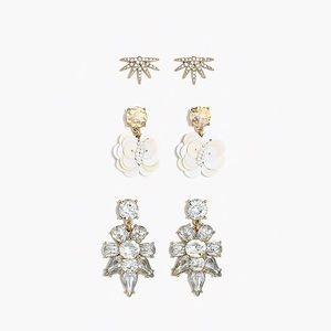 J. Crew earrings Set